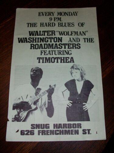 "WALTER ""Wolfman"" WASHINGTON SNUG HARBOR New Orleans Poster 80s *"