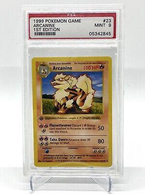 PSA 9 1st Edition Shadowless Arcanine Base Set Pokemon Card Non Holo 1999