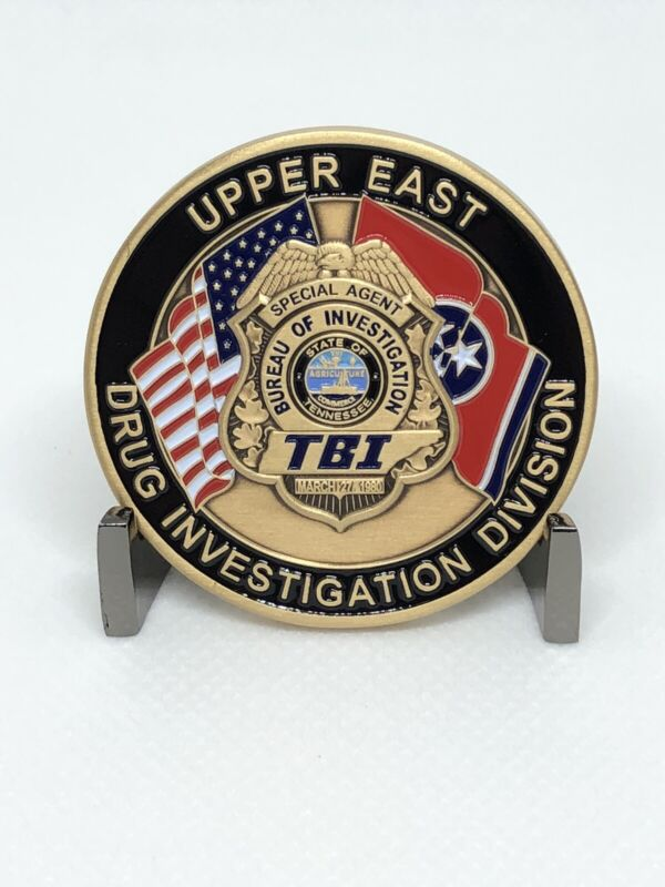 Tennessee Bureau Of Investigation Drug Challenge Coin TBI  TN Authentic