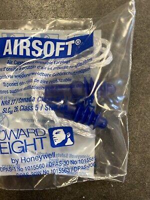 12 Pair Howard Leight Dpas-30w Airsoft Reusable Ear Plugs W White Cloth Cord