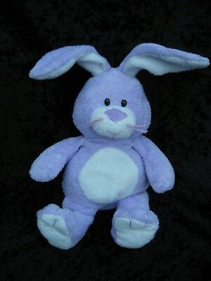 TY Pluffies Twitches Purple White Bunny Rabbit Beanbag Plush 2006