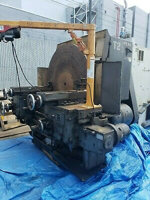 60 Used Lodge Shipley Right Angle T Lathe With Dual Carraige.