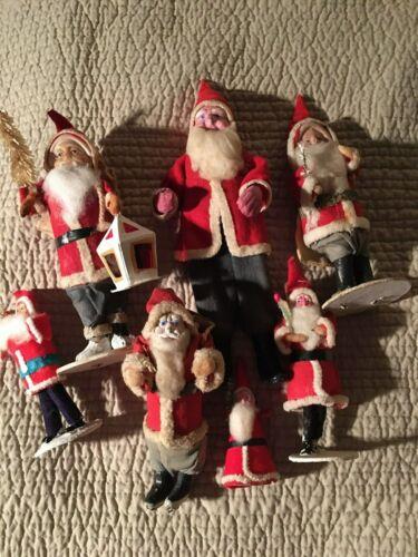 Antique/Vintage Santa Santas Japan Christmas Lot of 7