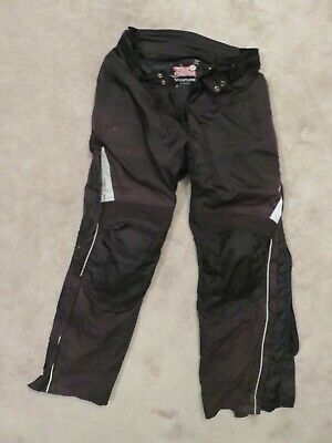 Broke Side Zip TOUR MASTER Venture PANTS Men LARGE Black Motorcycle Riding LINED