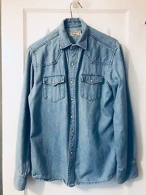 MAISON KITSUNÉ Denim Shirt Blue Men's Size S