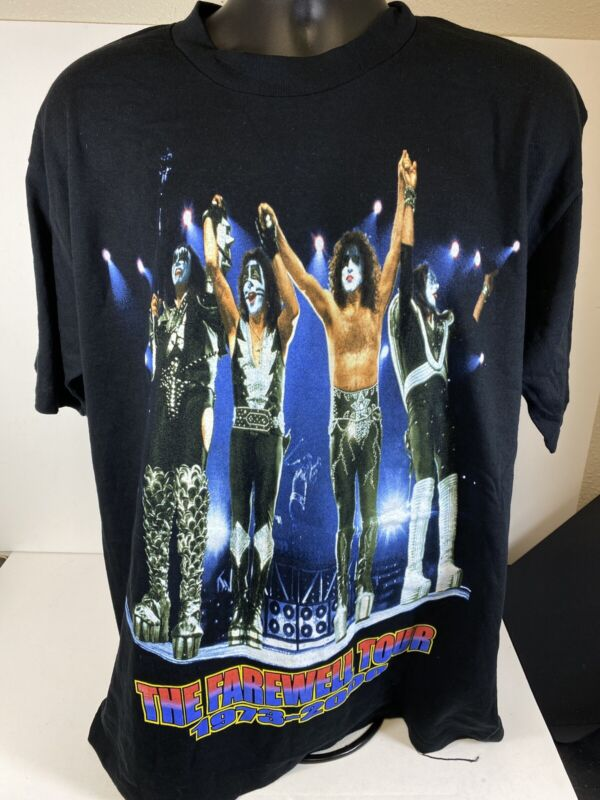 Kiss Farwell Shirt Calgary Size Large 2000 New Old Stock