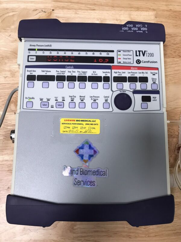 Carefusion Viasys Pulmonetic Systems LTV 1200 Ventilator Vyaire W/ Charger