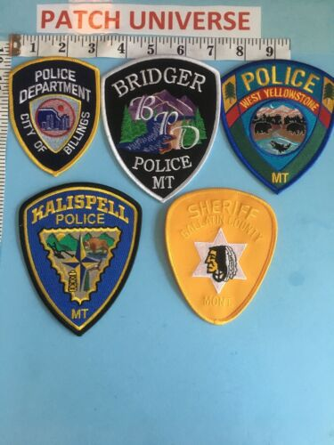 LOT OF 5 DIFFERENT  MONTANA   SHOULDER PATCHES  B106