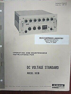 Cohu Dc Voltage Standard Model 303b Operating Maintenance Instructions 15x-48