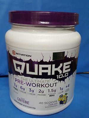 Scivation Quake 10.0 Pre-Workout Supplement Lemon Drop 40 Servings 520g