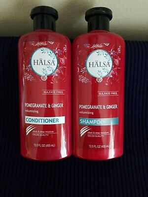 - HALSA Sulfate Free Pomegranate Ginger Volumizing Shampoo Conditioner Combo NWT