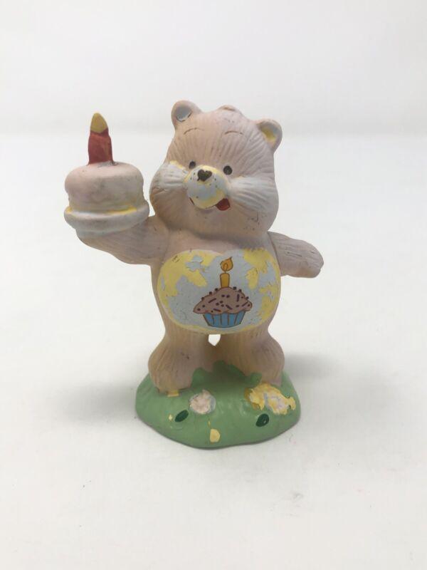 "Vintage American Greetings Ceramic Birthday Care Bear Figurine 3.25"" Tall 1983"