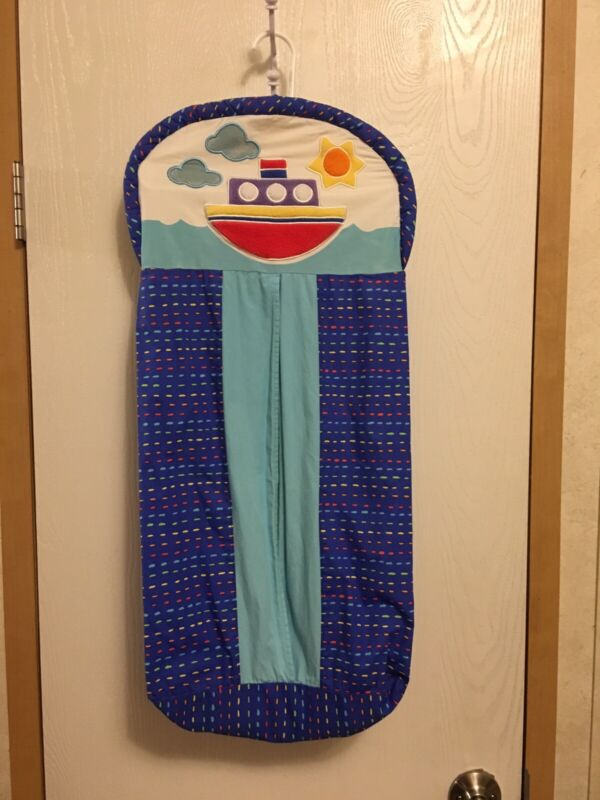 Hanging diaper holder With Two Matching Valances
