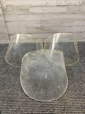 Used Lot Of 3 Fibre Metal 4199cl Clear Face Shield Window