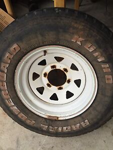 "15"" Sunraysia 4x4 rims with tyres 235 15 75 Mount Barker Mount Barker Area Preview"