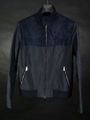 Valentino Navy Blue Suede and Cotton Jacket for sale  Belfast