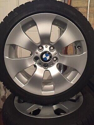 """4 x BMW 17"""" alloys complete with Pirelli Sottozero winter run flat tyres."""