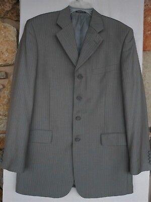 $169 VANETTI  2 Piece Slim Fit Stripe Suit/ GRAY Mens Sz  40L 33 x 31- WORN 1x