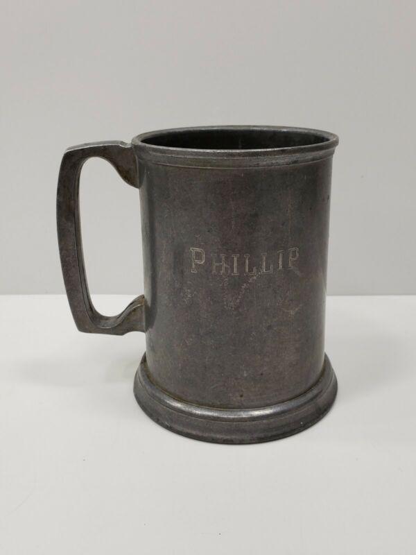 "Vintage Things Remembered Pewter Tankard Beer Mug ""Phillip"""