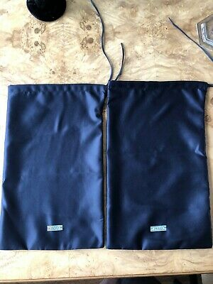"PRADA Pair of Dust Bags Bag Navy 13"" x 8"""