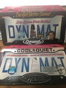 Dynamat License Plate Kit x 2    Both New in Box