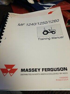 Massey Ferguson 1240 1250 1260 Tractor Training Manual