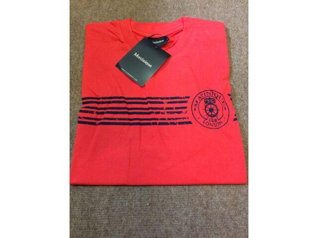 Matinique 'Senni' Postmark Crew Tee/Red - Small