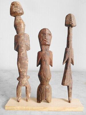 Set of 3 Statuettes Aklama Adan Ade Ada Ewe Art Tribal African