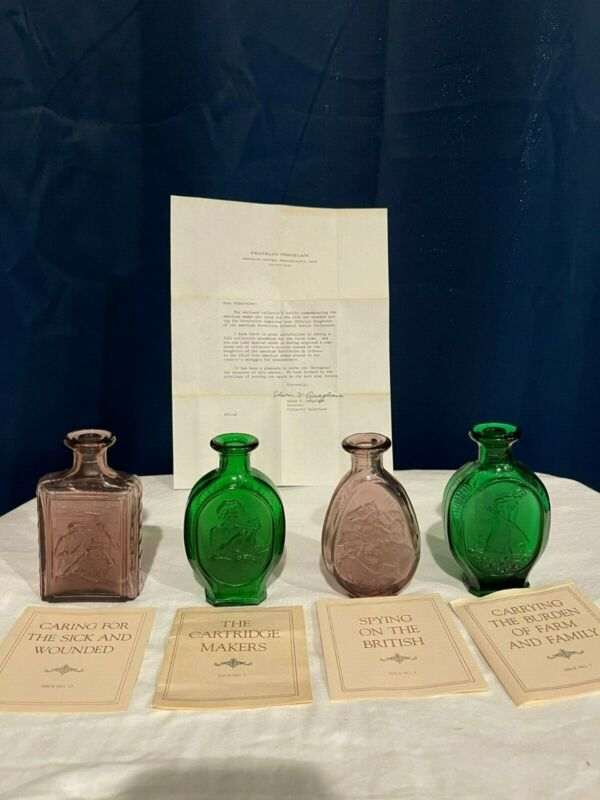 Daughters of the American Revolution 1979 Glass Bottles.