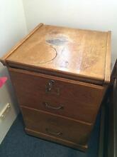 Wooden 2 Draw Filing Cabinet Concord West Canada Bay Area Preview