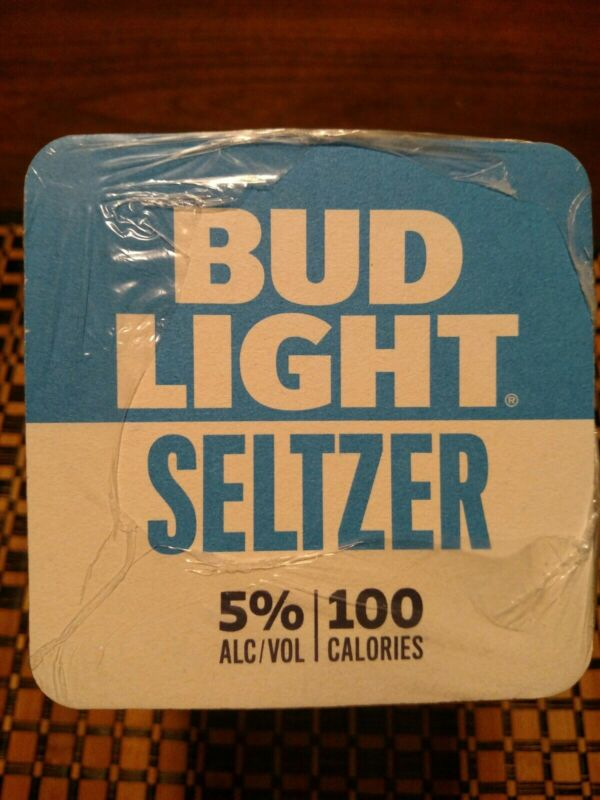 "Sleeve Of 125 Bud Light Seltzer Beer Coasters. 4X4"" Brand New."