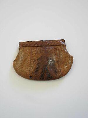 1950s Handbags, Purses, and Evening Bag Styles Vintage Bag - Brown Vintage Snakeskin Purse $35.63 AT vintagedancer.com