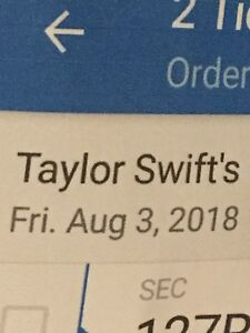 Taylor Swift Reputation Tour Friday August 3, 2018