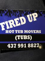 HOT TUB MOVERS MOVING REMOVALS CRANES