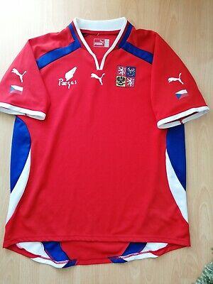 Czech Republic National Team Vintage Football Jersey L 2003 2004 Trikot Shirt image