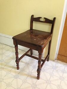 Antique Short Back Vanity Chair