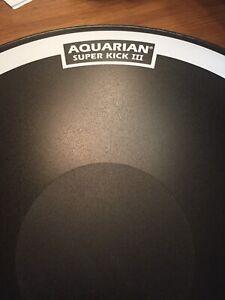 """22"""" Aquarian Super Kick 3 Bass Drum head."""