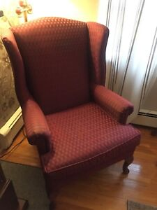 Wing back chair in excellent condition  $80 OBO
