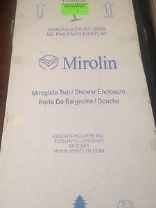 Mirolin sliding shower doors $200
