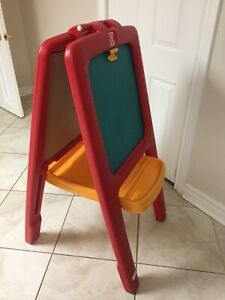 Double sided foldable easel