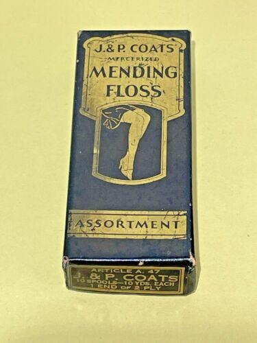 COLLECTABLE SEWING J.& P.COATS MENDING FLOSS ASSORTMENT VIN.
