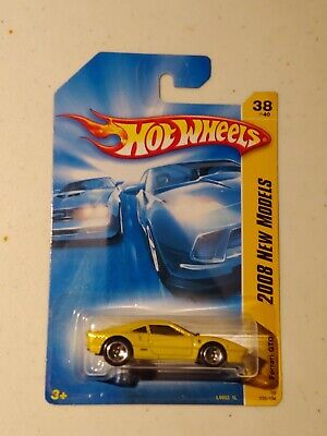 Hot WHEELS 2008 New MODELS FERRARI GTO 38/40 Yellow