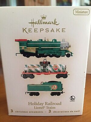 2008 Hallmark Holiday Lionel Train Set Christmas Tree Ornament Decoration SEALED