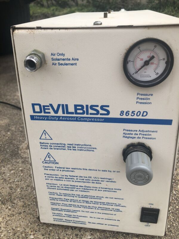 DeVilbiss Healthcare Heavy Duty Aerosol Compressor Model 8650d