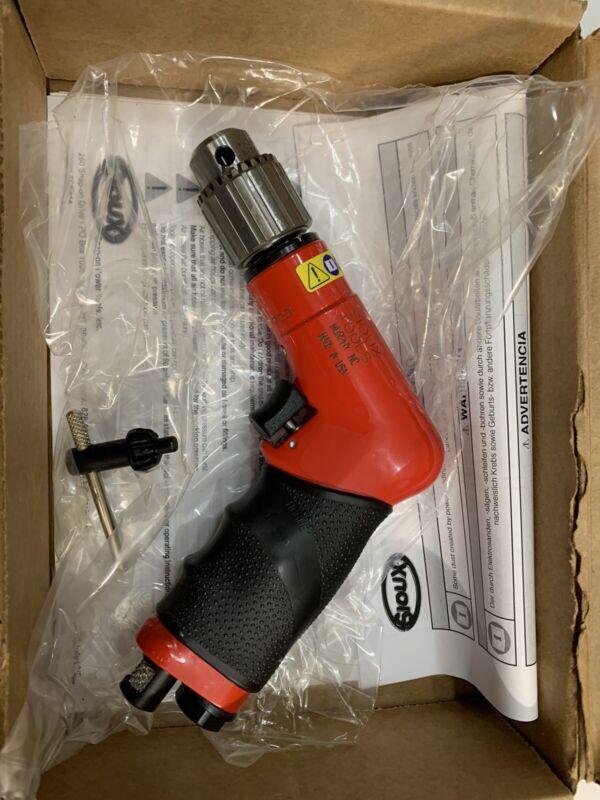 """NEW IN BOX - SIOUX Model 1414 4300 RPM PALM AIR DRILL 1/4"""" CHUCK"""