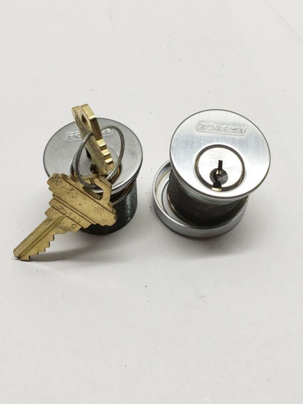Schlage brand mortise lock cylinders, set of 2, locksmith
