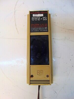 Mineralight Uvs-12 Ultraviolet Lamp 115 Volts S4267