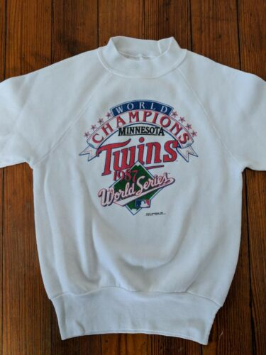 Vintage Minnesota Twins World Series Champions Sweatshirt 1987 Childrens 10-12