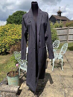 GORGEOUS GREY VINTAGE ISSEY MIYAKE  LONG Coat Size Large Size 12