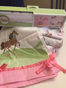 Sheet Set w/ matching valences and wall decals
